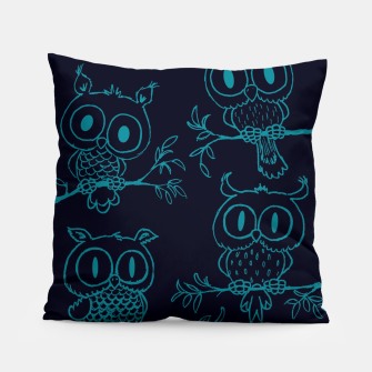 Thumbnail image of Owls in the night Pillow, Live Heroes