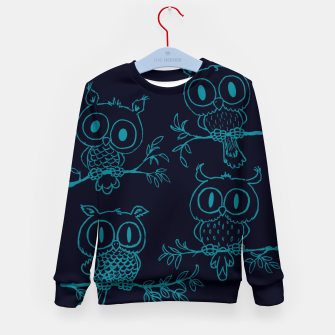 Thumbnail image of Owls in the night Kid's sweater, Live Heroes