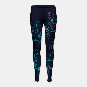 Thumbnail image of Owls in the night Girl's leggings, Live Heroes