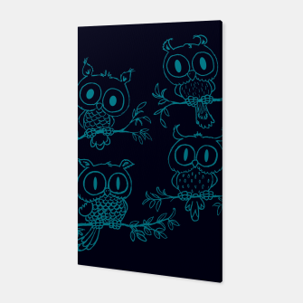 Thumbnail image of Owls in the night Canvas, Live Heroes