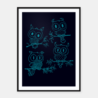 Thumbnail image of Owls in the night Framed poster, Live Heroes