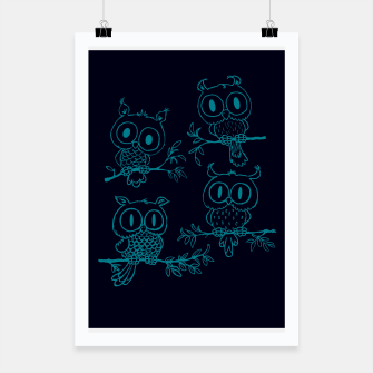 Miniatur Owls in the night Poster, Live Heroes