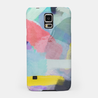 Thumbnail image of brush painting texture abstract background in pink blue yellow Samsung Case, Live Heroes