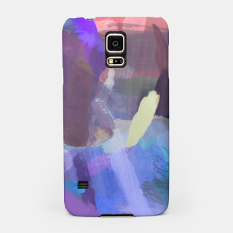 Thumbnail image of brush painting texture abstract background in purple blue brown Samsung Case, Live Heroes