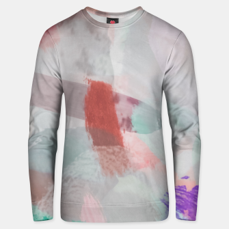 Miniaturka brush painting texture abstract background in red pink purple green Unisex sweater, Live Heroes