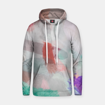 Thumbnail image of brush painting texture abstract background in red pink purple green Hoodie, Live Heroes