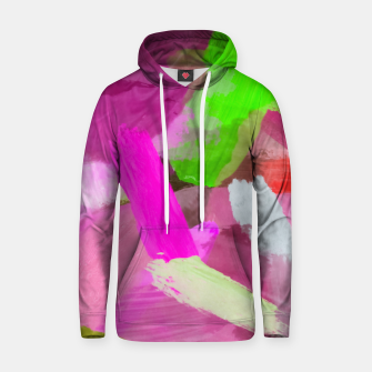 Thumbnail image of brush painting texture abstract background in pink green Hoodie, Live Heroes