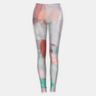 Thumbnail image of brush painting texture abstract background in red pink purple green Leggings, Live Heroes