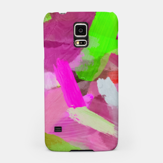 Thumbnail image of brush painting texture abstract background in pink green Samsung Case, Live Heroes