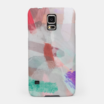 Thumbnail image of brush painting texture abstract background in red pink purple green Samsung Case, Live Heroes