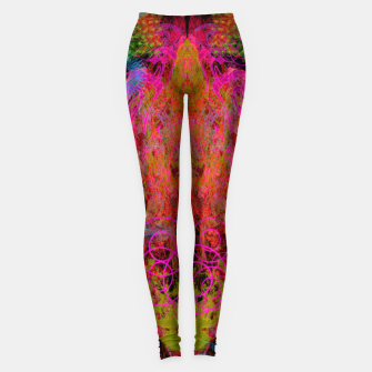 Thumbnail image of The Fire Alchemist (psychedelic, visionary) Leggings, Live Heroes
