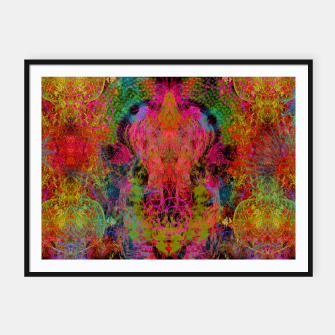 Thumbnail image of The Fire Alchemist (psychedelic, visionary) Framed poster, Live Heroes