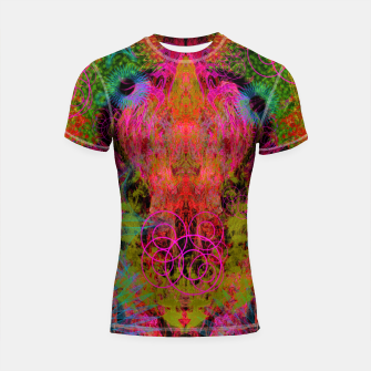 Thumbnail image of The Fire Alchemist (psychedelic, visionary) Shortsleeve rashguard, Live Heroes