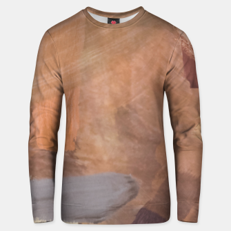 Miniaturka brush painting texture abstract background in brown and black Unisex sweater, Live Heroes