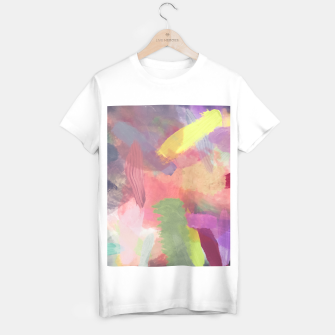 Thumbnail image of brush painting texture abstract background in pink purple yellow T-shirt regular, Live Heroes