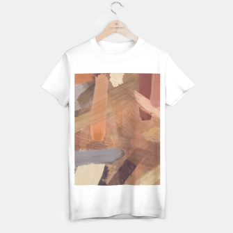 Thumbnail image of brush painting texture abstract background in brown and black T-shirt regular, Live Heroes