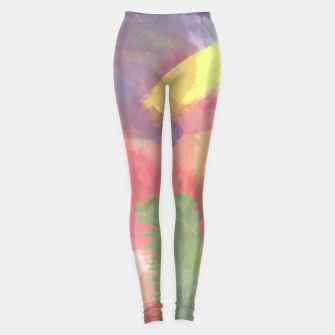 Thumbnail image of brush painting texture abstract background in pink purple yellow Leggings, Live Heroes