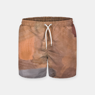 Thumbnail image of brush painting texture abstract background in brown and black Swim Shorts, Live Heroes