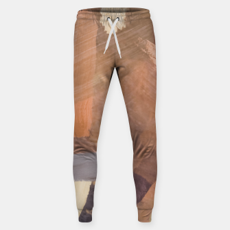 Thumbnail image of brush painting texture abstract background in brown and black Sweatpants, Live Heroes