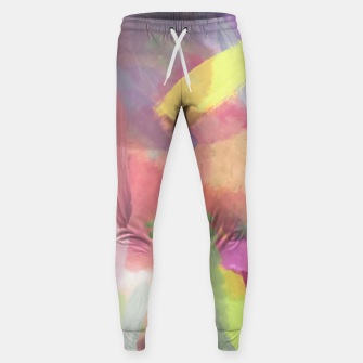 Thumbnail image of brush painting texture abstract background in pink purple yellow Sweatpants, Live Heroes