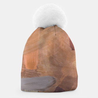Thumbnail image of brush painting texture abstract background in brown and black Beanie, Live Heroes