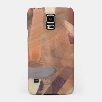 Thumbnail image of brush painting texture abstract background in brown and black Samsung Case, Live Heroes
