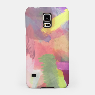 Thumbnail image of brush painting texture abstract background in pink purple yellow Samsung Case, Live Heroes