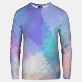 Miniaturka brush painting texture abstract background in blue pink purple Unisex sweater, Live Heroes