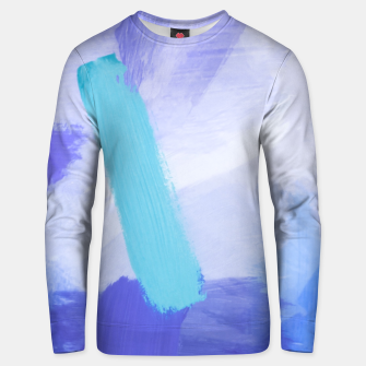 Miniaturka brush painting texture abstract background in blue Unisex sweater, Live Heroes
