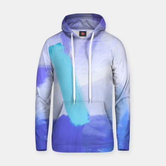 Thumbnail image of brush painting texture abstract background in blue Hoodie, Live Heroes