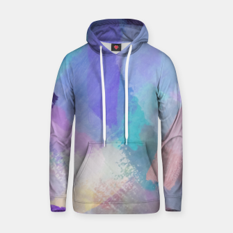 Thumbnail image of brush painting texture abstract background in blue pink purple Hoodie, Live Heroes