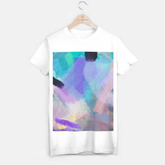 Thumbnail image of brush painting texture abstract background in blue pink purple T-shirt regular, Live Heroes