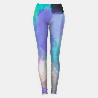 Thumbnail image of brush painting texture abstract background in blue pink purple Leggings, Live Heroes