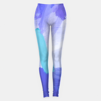 Thumbnail image of brush painting texture abstract background in blue Leggings, Live Heroes