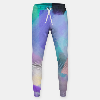 Thumbnail image of brush painting texture abstract background in blue pink purple Sweatpants, Live Heroes