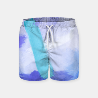Thumbnail image of brush painting texture abstract background in blue Swim Shorts, Live Heroes
