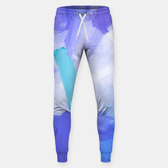 Thumbnail image of brush painting texture abstract background in blue Sweatpants, Live Heroes