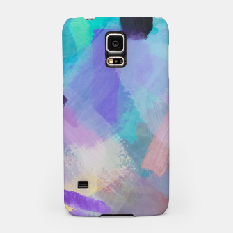 Thumbnail image of brush painting texture abstract background in blue pink purple Samsung Case, Live Heroes