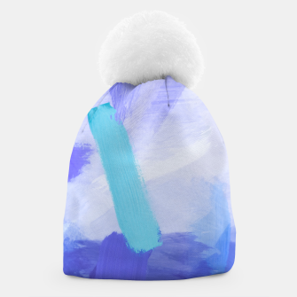 Thumbnail image of brush painting texture abstract background in blue Beanie, Live Heroes
