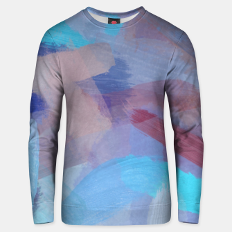 Miniaturka brush painting texture abstract background in blue brown Unisex sweater, Live Heroes