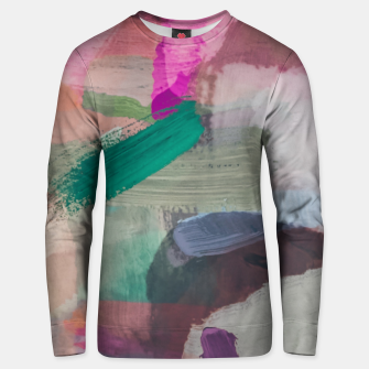 Miniaturka brush painting texture abstract background in pink brown green Unisex sweater, Live Heroes