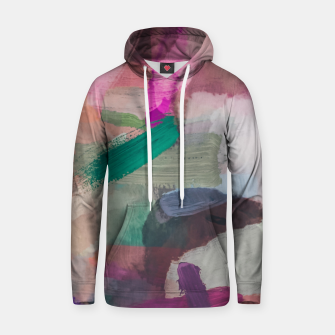 Thumbnail image of brush painting texture abstract background in pink brown green Hoodie, Live Heroes