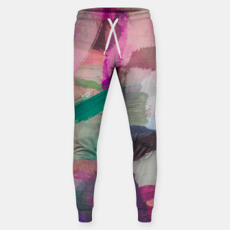 Thumbnail image of brush painting texture abstract background in pink brown green Sweatpants, Live Heroes