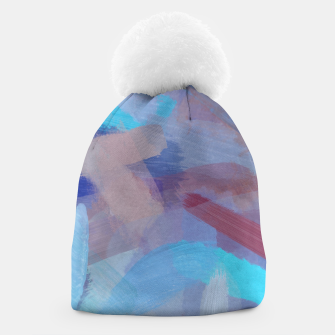 Thumbnail image of brush painting texture abstract background in blue brown Beanie, Live Heroes