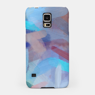 Thumbnail image of brush painting texture abstract background in blue brown Samsung Case, Live Heroes