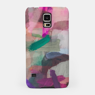Thumbnail image of brush painting texture abstract background in pink brown green Samsung Case, Live Heroes