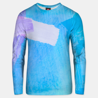 Miniaturka brush painting texture abstract background in blue purple Unisex sweater, Live Heroes
