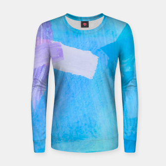 Thumbnail image of brush painting texture abstract background in blue purple Women sweater, Live Heroes