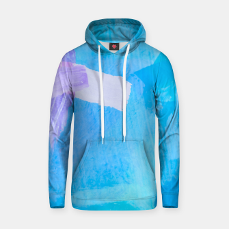 Thumbnail image of brush painting texture abstract background in blue purple Hoodie, Live Heroes