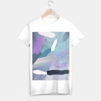 Thumbnail image of brush painting texture abstract background in purple green black T-shirt regular, Live Heroes